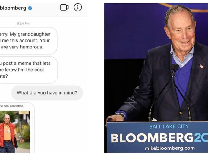 Popular meme accounts on Instagram are suddenly posting for Mike Bloomberg\