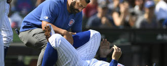 Cubs 1B Rizzo diagnosed with moderate ankle sprain