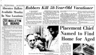 A Miami Herald article from 1977 detailing the murder of William Willits at a North Miami Beach motel.