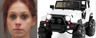 Drunk woman drives Power Wheels toy truck down road, South Carolina police say