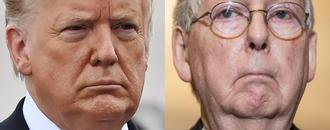 Trump mocks Mitch McConnell for being