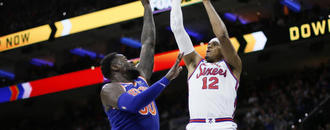 Minus Embiid and Simmons, Harris leads 76ers past Knicks