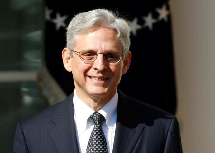 FILE PHOTO: Appeals Court Judge Merrick Garland speaking in the Rose Garden of the White House after being nominated by President Barack Obama in Washington