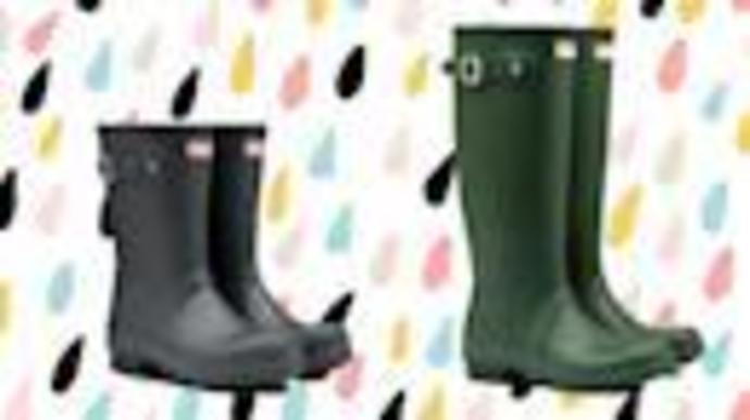 Hunter rain boots are on sale for a crazy low price-but they\