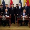 Trump blasts proposed restrictions on China trade, wants China to buy U.S. jet engines