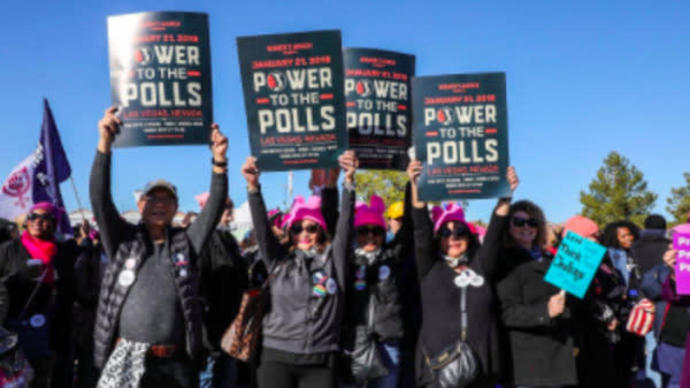 Women's March Activists Rally In Las Vegas, Vow To Bring Their 'Power To The Polls'