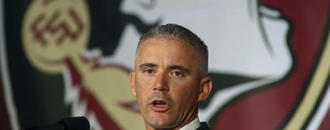 Florida St football team meets after coach accused of lying