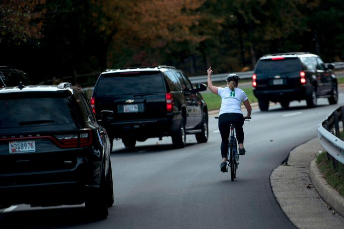 Remember The Cyclist Who Flipped Off Trump\