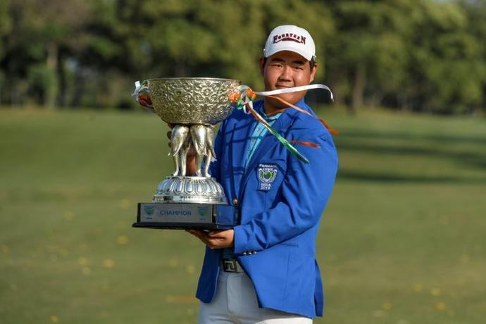 Seventeen-year-old South Korean Joohyung Kim was making just his third start on the Tour this year