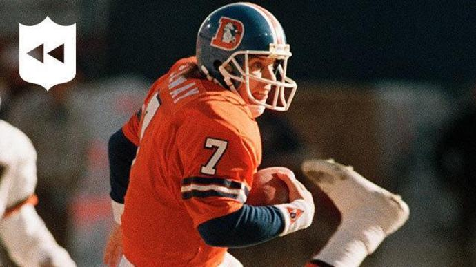 finest selection b8e4f 42af8 NFL Throwback: Watch every John Elway playoff touchdown