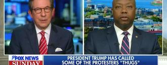 Fox News Host Chris Wallace Confronts GOP Sen. Tim Scott With