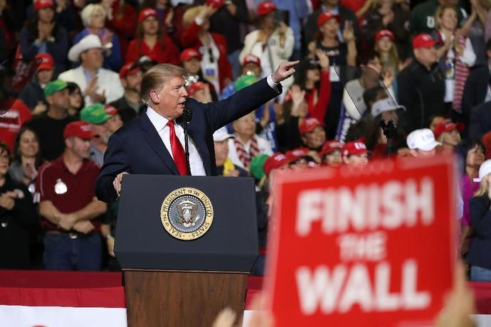 As the tentative deal was announced, US President Donald Trump was holding a campaign-style rally in the the frontier city of El Paso