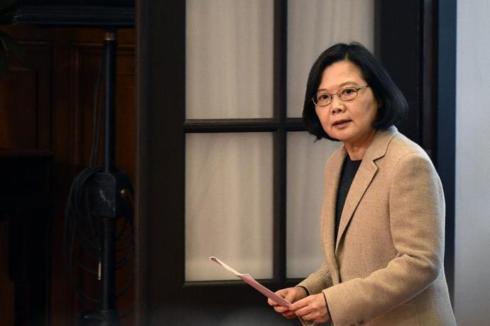 President Tsai Ing-wen said Taiwanese people would never give up the freedoms they now enjoy