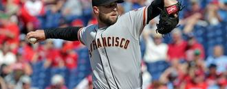Giants pitcher Strickland breaks hand after door punch