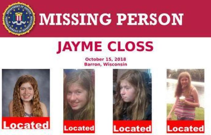 FILE PHOTO: FBI missing person poster of Jayme Closs who has been located in Wisconsin