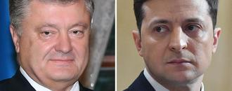 Ukraine vote rivals clash in stadium debate