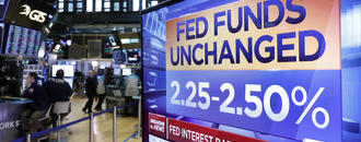 Fed news sends bond yields sharply lower; US stocks mixed