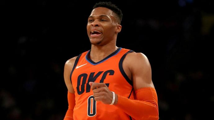 Westbrook sets NBA record with 10 consecutive triple-doubles