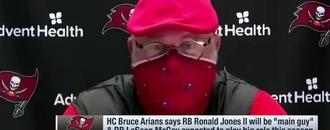 Arians breaks down how he envisions utilizing Shady, Bucs RBs in 2020
