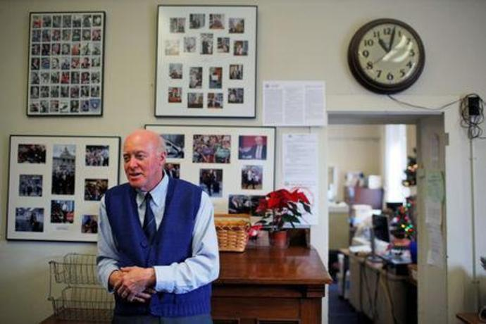 FILE PHOTO: New Hampshire Secretary of State Bill Gardner answers a question in his office at the State House in Concord