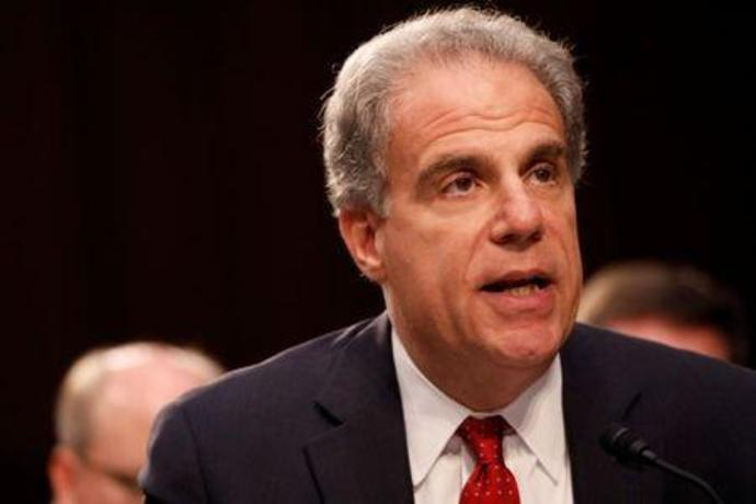 Justice Department Inspector General Michael Horowitz testifies during a Judiciary Committee hearing into alleged Russian meddling in the 2016 election on Capitol Hill in Washington