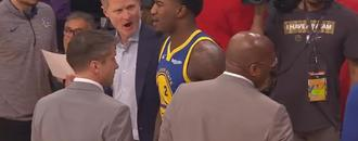 Jordan Bell-Steve Kerr squabble a salty finish in Warriors blowout win