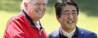 Trump and Abe tee off amid US-Japan trade tensions