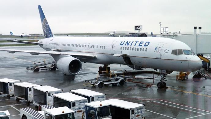 Flights in and out of Newark Liberty International Airport were delayed for about an hour while passengers deplaned and the aircraft was moved