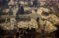 The Latest: Golden Globe organizers donate to fire victims
