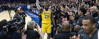 James passes Bryant on NBA scoring list in Lakers