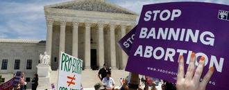 Hundreds gather at U.S. Supreme Court to protest state abortion bans as step backward