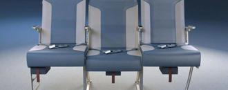 Redesigned airplane seats could mean more space for middle seat