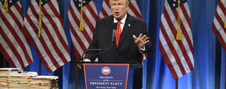 Alec Baldwin eyes Broadway for solo Trump show, with Lorne Michaels