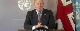 Boris Johnson urges world leaders to unite against COVID-19.