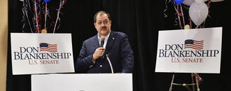 The Latest: Official said Blankenship legal issue premature