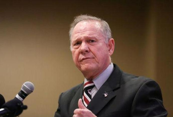 FILE PHOTO:    Judge Roy Moore participates in the Mid-Alabama Republican Club