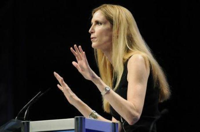 FILE PHOTO: Commentator Ann Coulter speaks to the Conservative Political Action conference in Washington