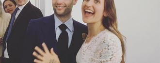 And the Bride Wore Beige! Penn Badgley and Domino Kirke Get Married - Again