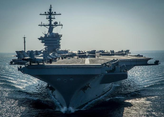 "The US Navy said last week it was directing a naval strike group headed by the USS Carl Vinson aircraft carrier to ""sail north"" as a measure to deter Pyongyang"