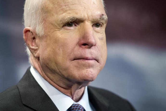 McCain calls brain cancer prognosis