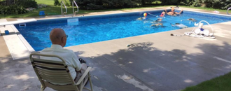 After His Wife Died, This Lonely 94-Year-Old Widow Built a Backyard Pool for the Neighborhood Kids